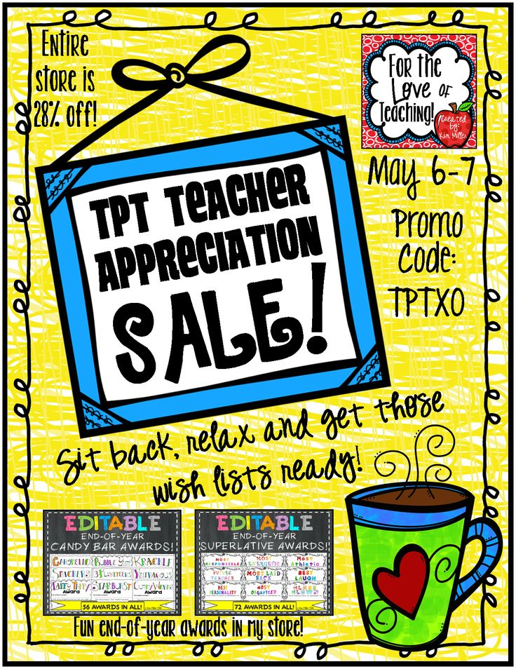 *HUGE* TPT Teacher Appreciation Sale - May 6-7!  Stock up now on end-of-year products!  My entire store is 28% off with promo code!!! http://www.teacherspayteachers.com/Store/Kim-Miller-24