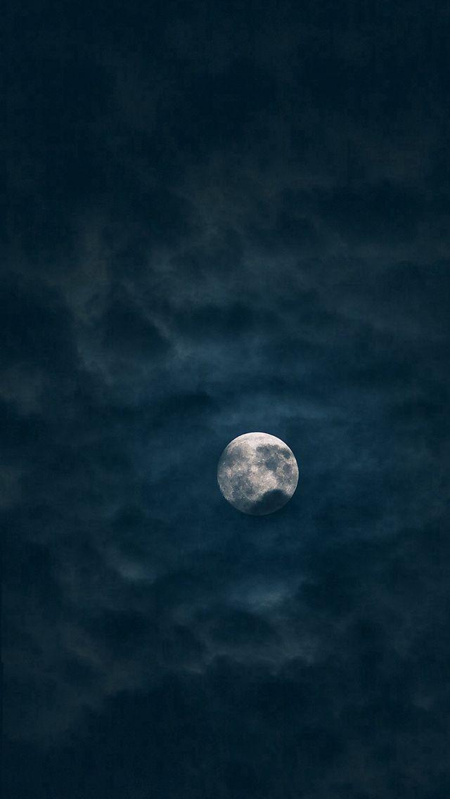Moon Sky Dark Night Nature  #iPhone #5s #wallpaper