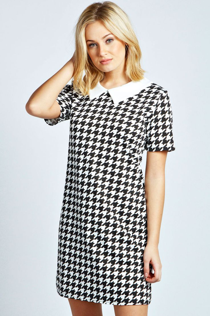 17 Best Ideas About Houndstooth Dress On Pinterest 50s