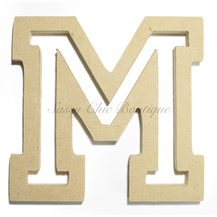unfinished wood letters unfinished wooden letter uppercase quot m quot all font 25367