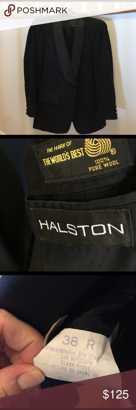 Halston men's tux Classic and classy! The cost of one rental and you can own for yourself and future black tie events. Don't let James Bond take home all the babes. H by Halston Suits & Blazers Tuxedos