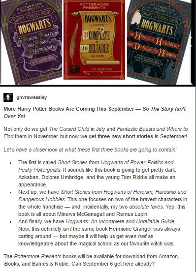 The Year of Harry Potter!! Can September 6 get here already?