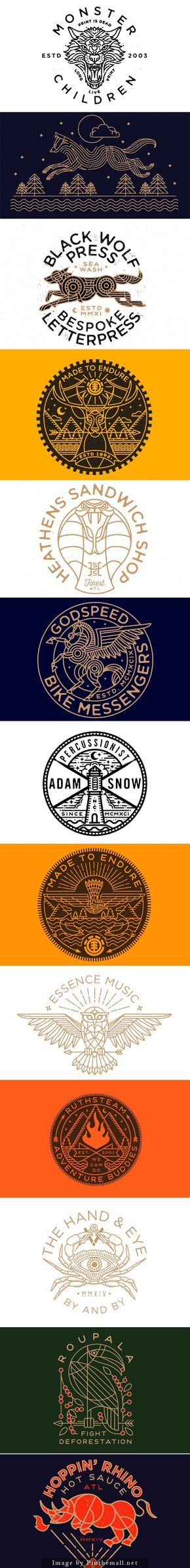 Logo designs by Brian Steely