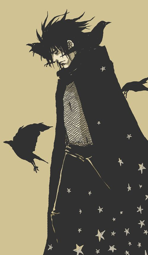 Raven Man as Morpheus - The King Of Dreams. (I believe this image is from Neil Gaiman's 'Sandman' series).