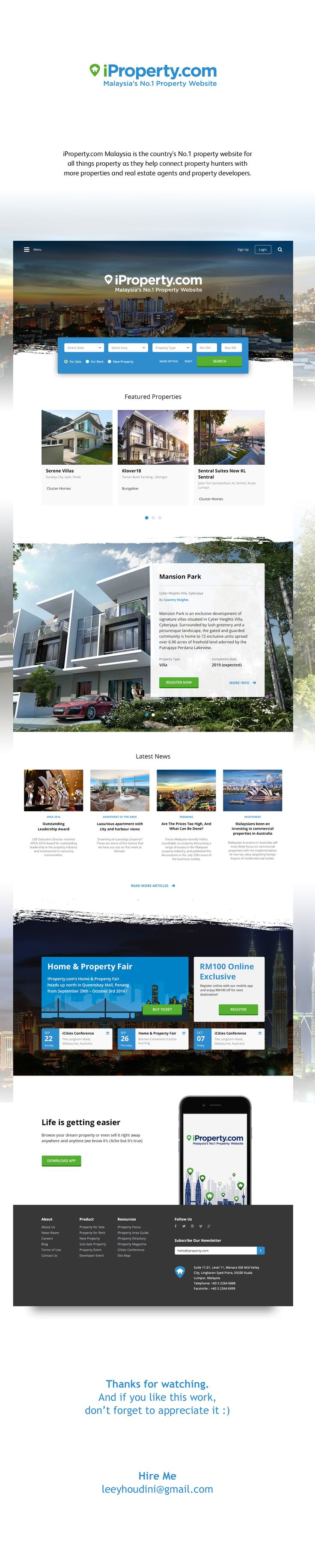 """Check out my @Behance project: """"iProperty.com Website Redesign""""…"""
