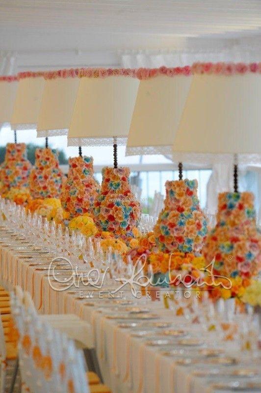 Un'esplosione di colori primaverili per gli allestimenti del tavolo imperiale by Cira Lombardo