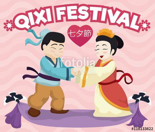 In Love Legendary Couple Commemorating Traditional Qixi Festival