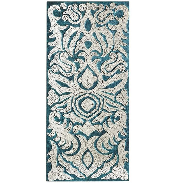 Mirrored Damask Panel - Teal | Pier 1 Imports