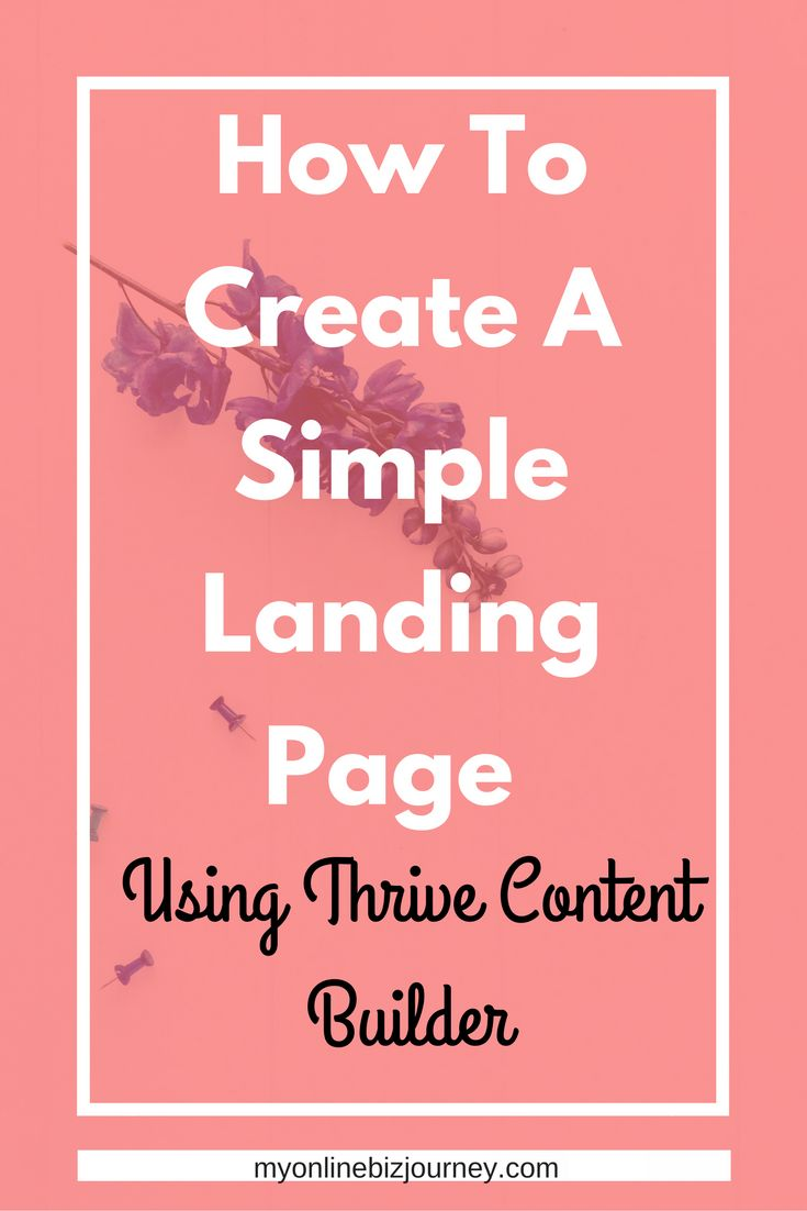 Build a simple landing page in MINUTES. The Thrive Content Builder plugin allows you to design landing pages for just about anything you can think of - webinars, lead gen, coming soon pages, video delivery pages and more. In this video, I review the Thrive Content Builder and threw in a mini-tutorial for creating a simple landing page in minutes.