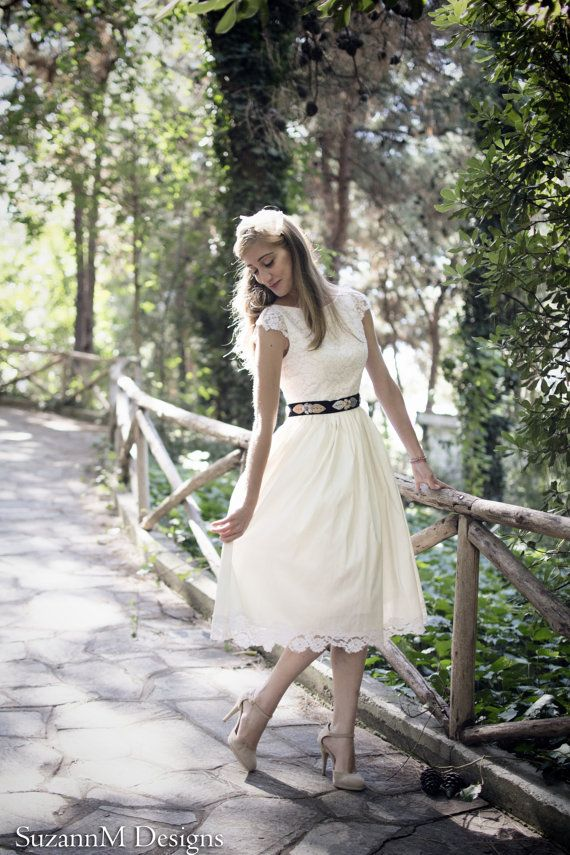 Ivory 50s Wedding Dress Original 50s Style by SuzannaMDesigns