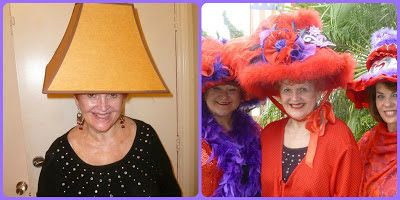 The Red Hat Society: DIY Lampshade Hat