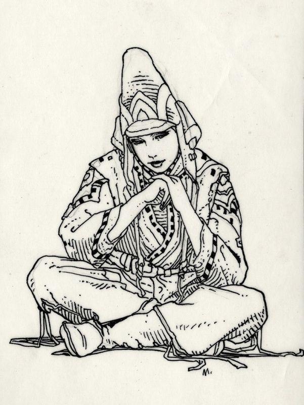 Starwatcher 1985 par Moebius - Illustration