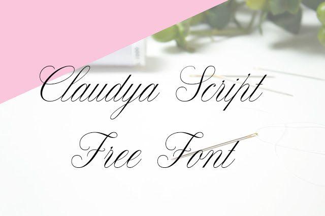 DLOLLEYS HELP: Claudya Free Font