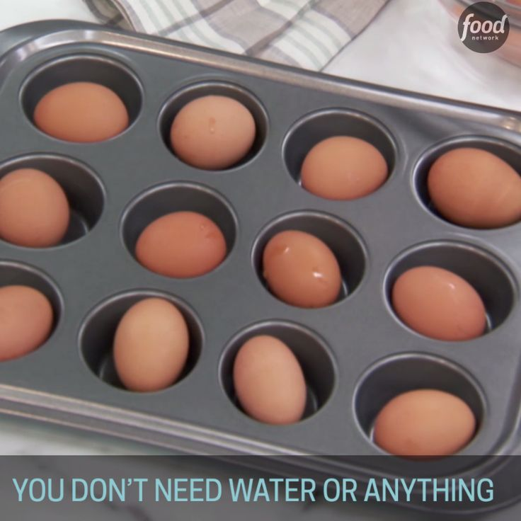 """Hard-boiling"" eggs in the oven is perfect for making large batches of eggs, and it offers consistent results with little fuss or attention required."