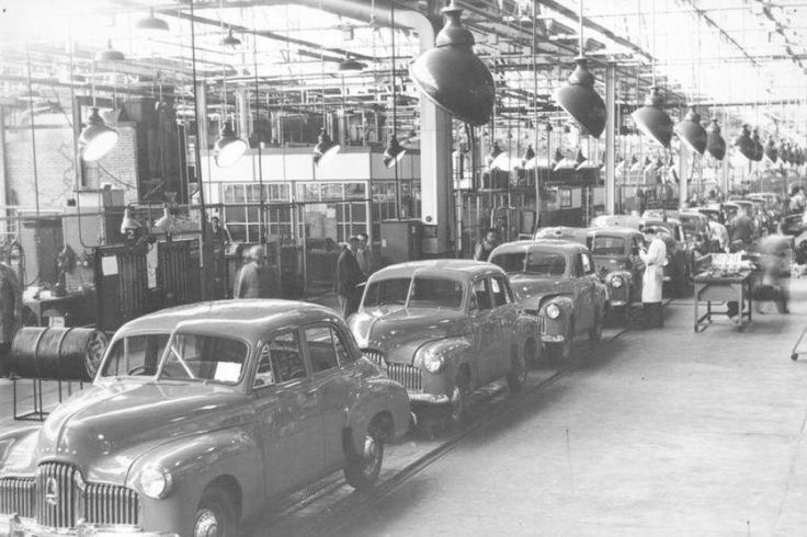 Holden 48-215's (FX's) on the production line