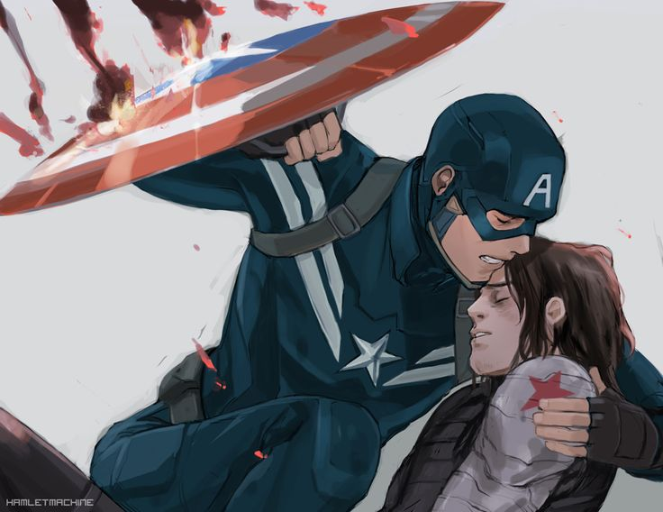 The look on Steve's face is heartbreaking, as though he knows it's too late but he's still going to fight til his last breath on the off chance he can still save Bucky.