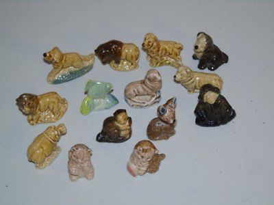 Stamp Pickers Vintage Canada Wade Whimsies Lot of 14 Animals Red Rose