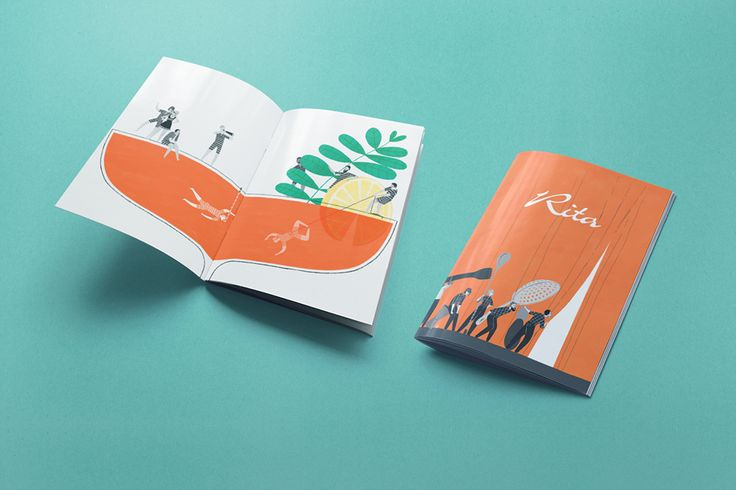 Cover and inside front cover - Illustrations for the new Bar Rita menu.