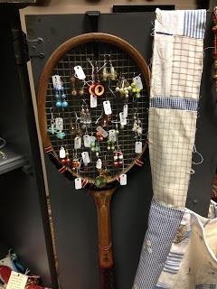 C. Dianne Zweig - Kitsch 'n Stuff: Displaying Vintage Earrings On An Antique Tennis Racket