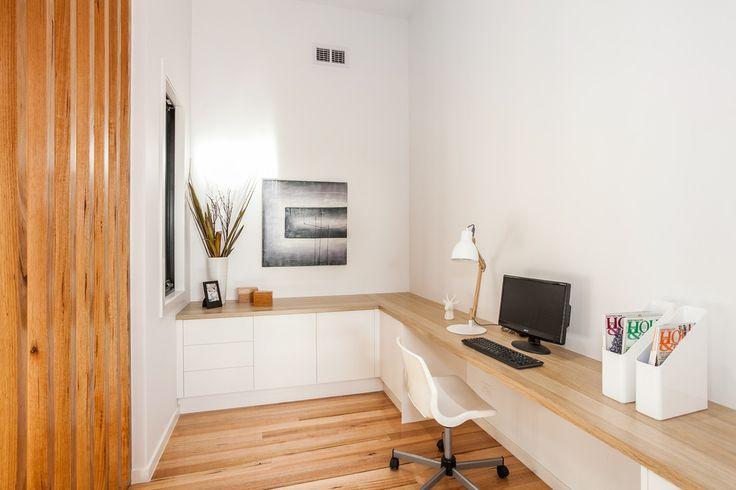 Fresh modern looking desktop in polytec Natural Oak Matt finish