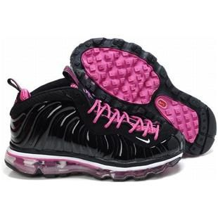 foamposites 2012 nike air max 2009 ladies sneakers black and pink 27773