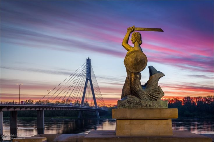 The brave mermaid is the symbol of Warsaw.