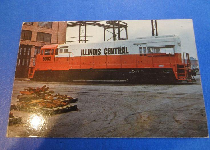 Illinois Central 5002 Paducan Ky Shops, Vintage Railroad Postcard