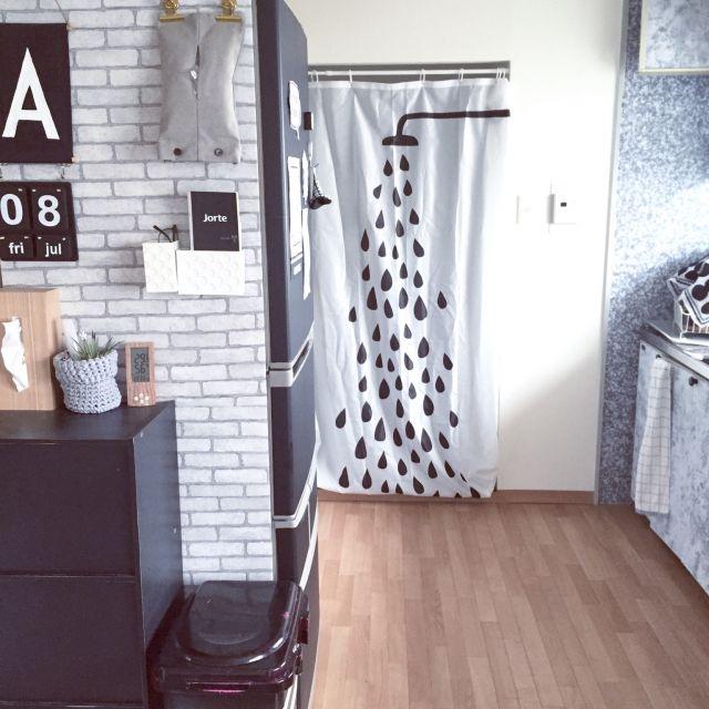 IKEAのシャワーカーテンが色々な場所で大活躍!