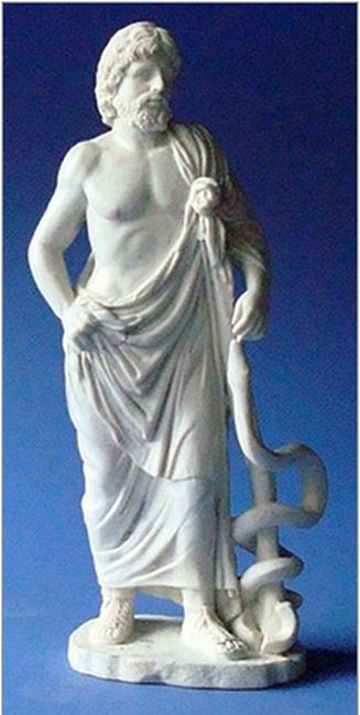 Greek Mythology Gods Sculpture Asclepios God Of Medicine