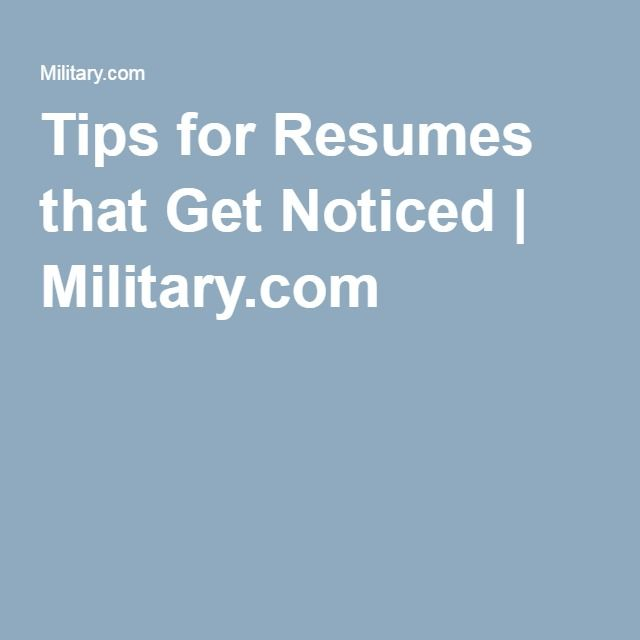 transitioning military resumes