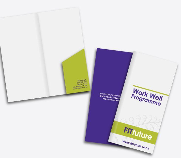 FITfuture Brochure Folder Design & Print - By CREATIVA Design Studio