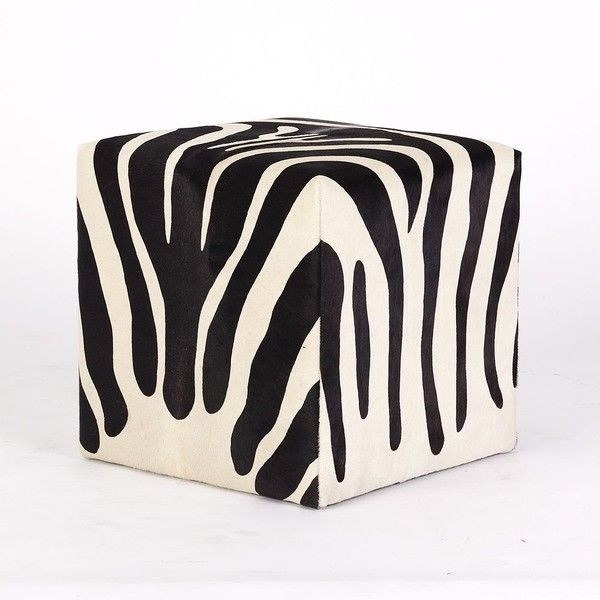 Zebra Cube (455 KWD) ❤ liked on Polyvore featuring home, furniture, ottomans, chairs, interior design, mobile home furniture, cube furniture, zebra furniture, zebra ottoman and cube footstool