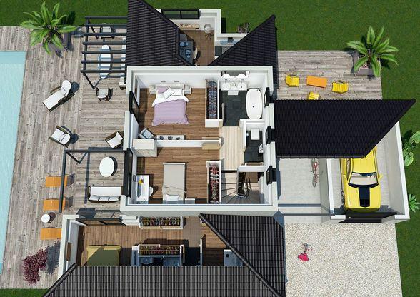 Mod le de maison villa florida retrouvez tous les - Modele de maison a construire ...