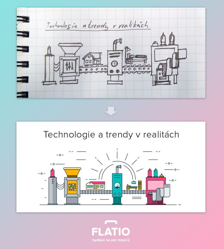 How to make your idea real - sketch for infographic.