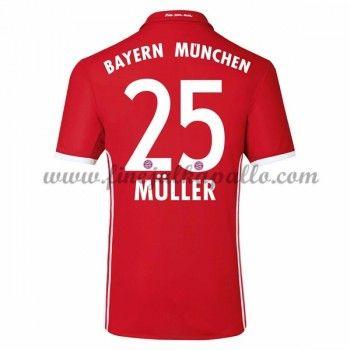 Jalkapallo Pelipaidat Bayern Munich 2016-17 Muller 25 Kotipaita