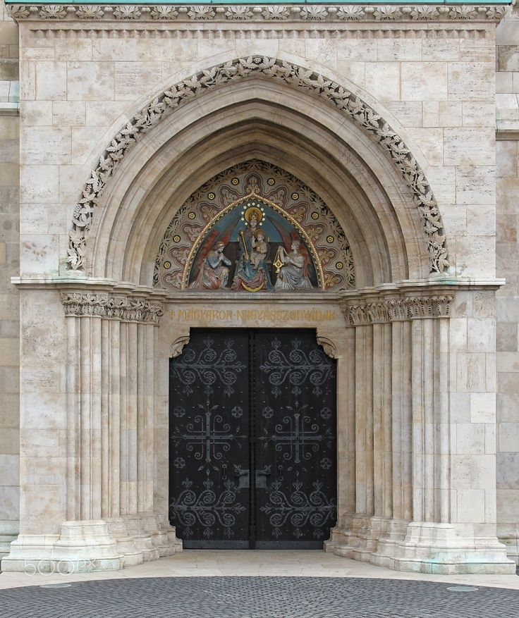 gothic gate1 - Hungary, Budapest, Matthias Church #Gothic #gate closed.