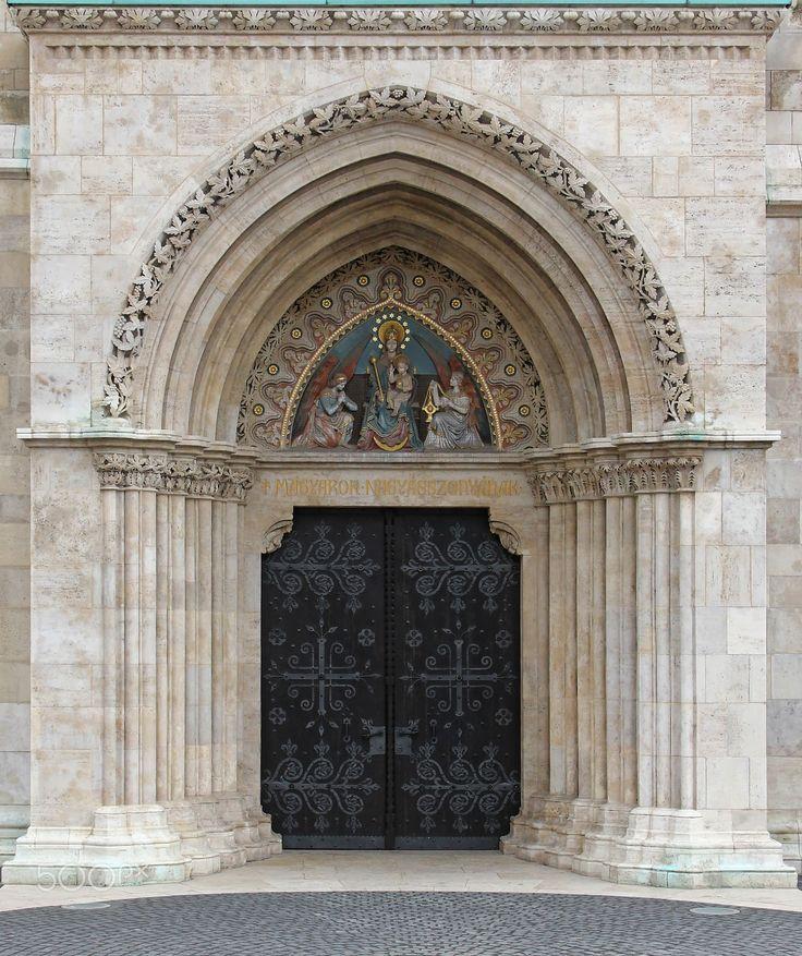 gothic gate1 - Hungary, Budapest, Matthias Church #Gothic #gate closed.