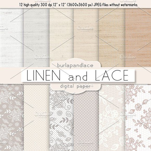 Linen and Lace by burlapandlace on @creativemarket