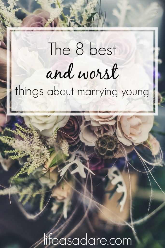 This blogger has some great insights on what are the best and worst things about getting married young! I'm so happy I married young, but there are definitely some unique challenges, as come with all wonderful things. :) Read the rest at lifeasadare.com! #TriplePFeature