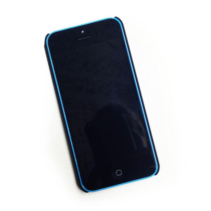 Echt houten hardcase hoesje iPhone 5C - donker notenhout door HoentjenCreatie op Etsy