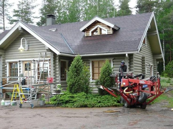 Painting A Log Exterior 2015 New House Pinterest