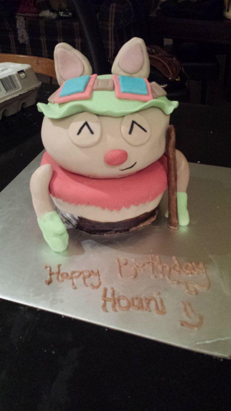 League of Legends Teemo Birthday Cake