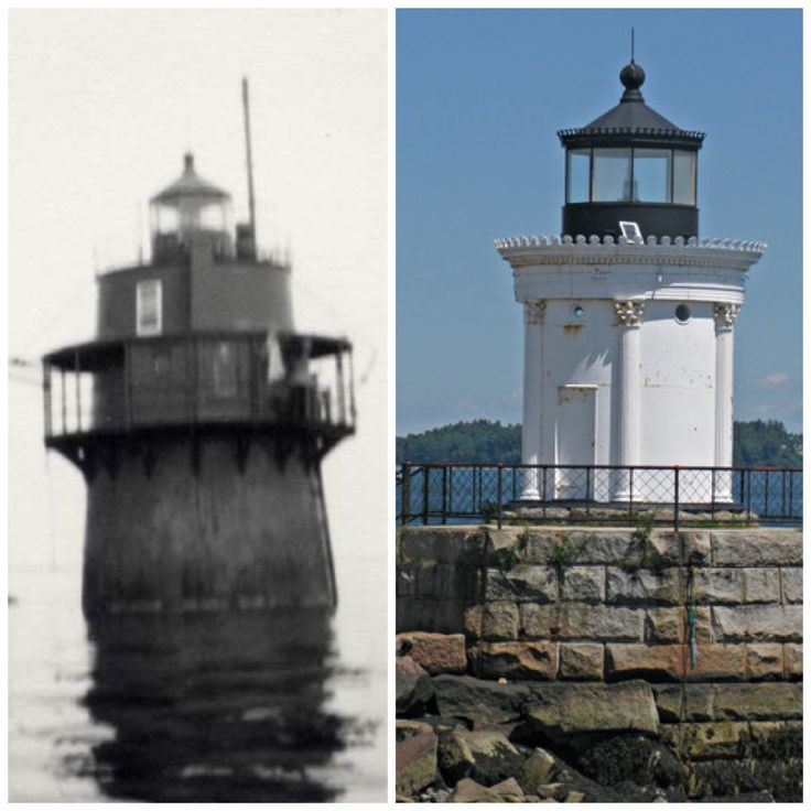 Bug Light ~ So. Portland, Me. ~ before & after renovations.