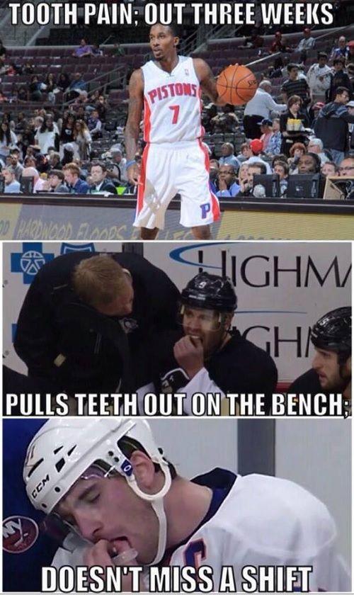 Hockey players  everyone else