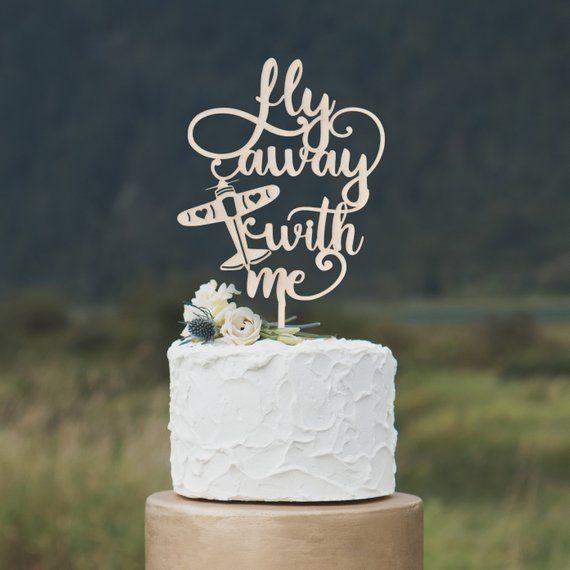 travling personalised celebration Cake Topper decoration BON-VOYAGE