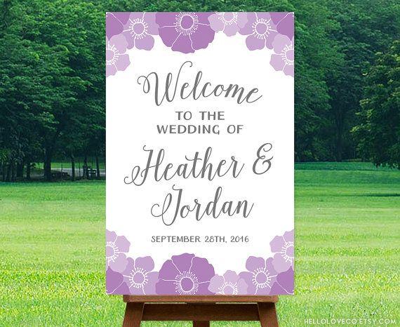 エレガントな書体が上品に♡素敵な結婚式に♡パープルのウェルカムボードまとめ一覧♡