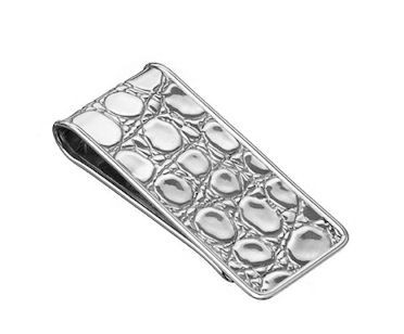 Crocodile Money Clip in sterling silver   Hannon Jewelers #GiftsforHim