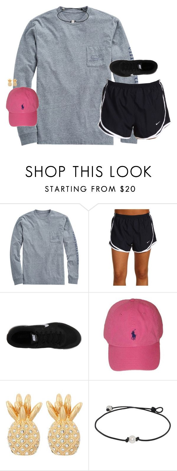"""""""ootd, it was soo warm today!!☀️"""" by smbprep ❤ liked on Polyvore featuring Vineyard Vines, NIKE, Polo Ralph Lauren and Lilly Pulitzer"""