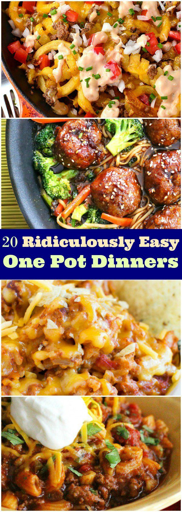 20 Ridiculously Easy One Pot Dinners You Will Love