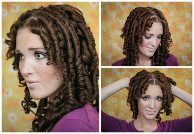 650w ringlet hair tutorial foam curlers shirley temple hair 5
